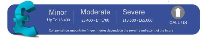 How much compensation for a finger injury?